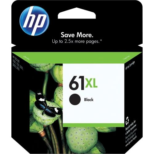 HP 61XL Ink Cartridge - Black - Inkjet - 480 Page - 1 Pack CH563WN#140