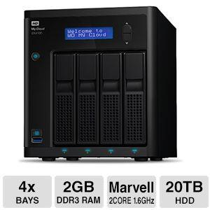 WD 24TB My Cloud EX4100 Expert Series 4-Bay Network Attached Storage - NAS - WDBWZE0240KBK-NESN