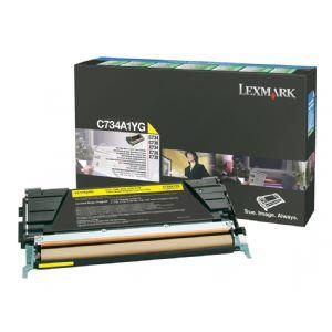 Lexmark Return Program Yellow Toner Cartridge for C734 C736 X734 X736 X738 C734A1YG