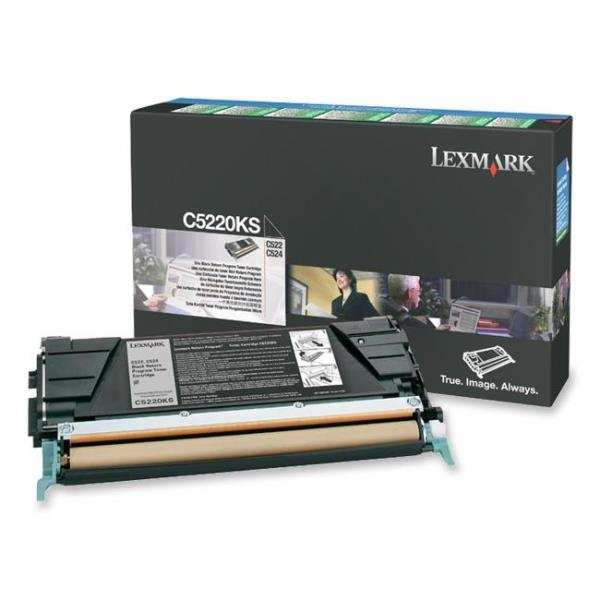 Lexmark Black Return Program Toner Cartridge for C522/C524/C530/C532/C534 4K Page Yield C5220KS