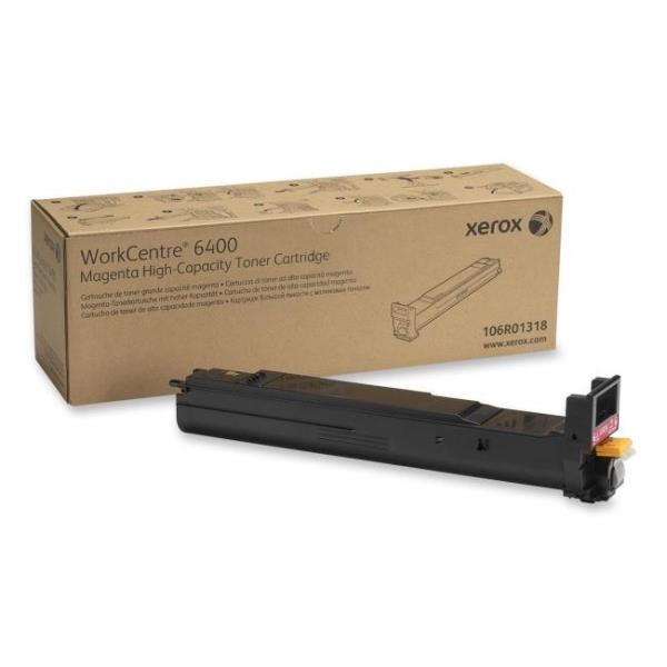 Xerox High Capacity Magenta Toner Cartridge for Workcentre 6400 14K Page Yield 106R01318