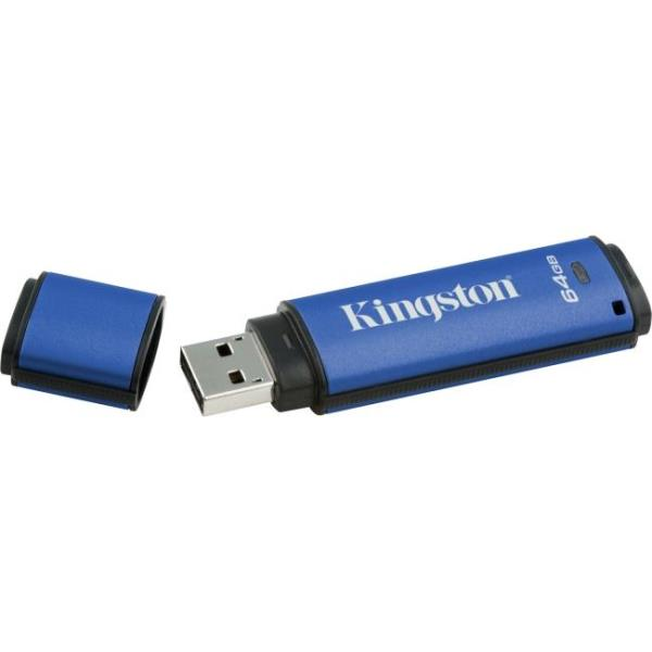 Kingston DataTraveler Vault Privacy 3.0 - 64 GB - Password Protection, Encryption Support, Water Proof DTVP30/64GB