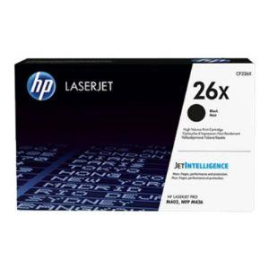 HP 26X Original Toner Cartridge - Single Pack - Laser - High Yield - 9000 Pages - Black - 1 Each CF226X