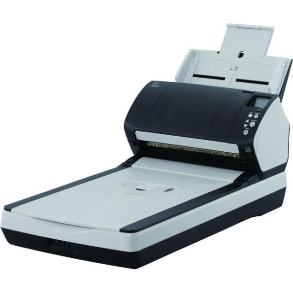 Fujitsu Fi-7280 Sheetfed/Flatbed Scanner - 600 dpi Optical - 24-bit Color - 8-bit Grayscale - 80 ppm (Mono) - 80 ppm (Color) - USB PA03670-B505