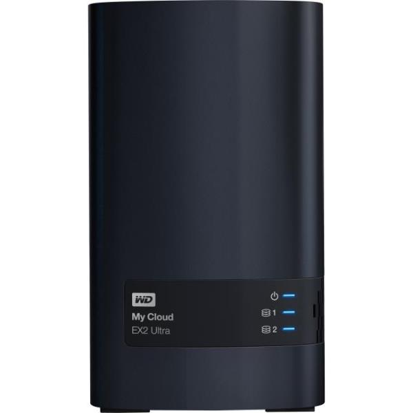NAS Server WD My Cloud EX2 Ultra WDBVBZ0120JCH - Bureau - Marvell 385 Dual-core (2 cœurs) 1,30 GHz - 12 To HDD - 1 Go RAM DDR3 SDRAM - RAID 0, 1, JBOD - Gigabit Ethernet - 2 USB Port(s) - 2 USB 3.0 Po