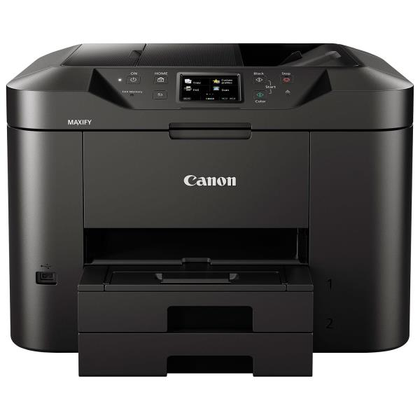 Canon MAXIFY MB2720 Inkjet Multifunction Printer - Color - Copier/Fax/Printer/Scanner - 600 x 1200 dpi Print - Automatic Duplex Print - 1200 dpi Optical Scan - 500 sheets Input - Ethernet - Wireless L