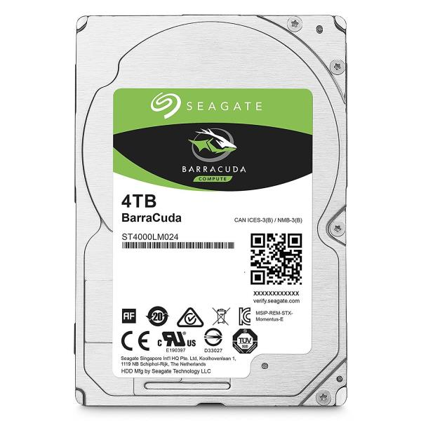Seagate Barracuda ST4000LM024 4TB SATA 6GB/S 5400RPM 128MB Cache 2.5in Internal Hard Drive OEM