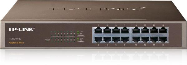 HUB 16 PORT TP-LINK TL-SG1016D GBIT SWITCH 1U