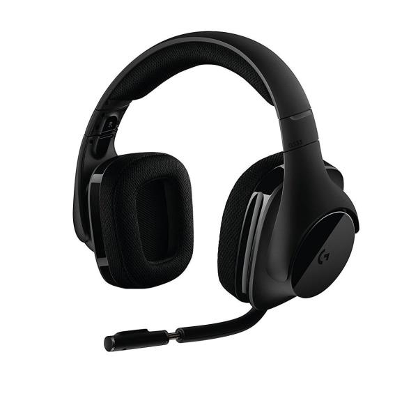 Logitech G533 Wireless Dts X7.1 Surround Gaming Headset W/ NOISE-CANCELLING Mic Max 15HR BATT. Life 981-000632