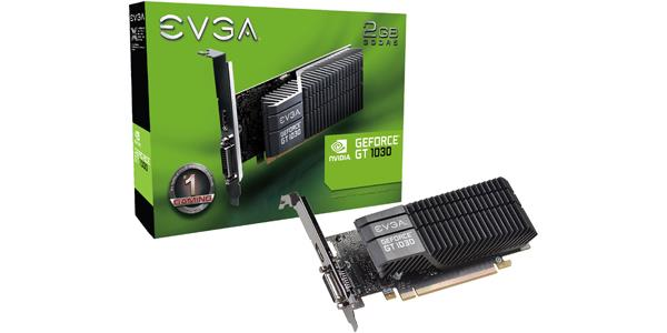 EVGA GeForce GT 1030 SC 2GB GDDR5 Passive Low Profile Video Card 02G-P4-6332-KR