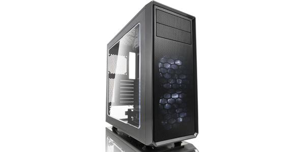 Fractal Design Focus G ATX Mid Tower Computer Case - Gunmetal Gray FD-CA-FOCUS-GY-W