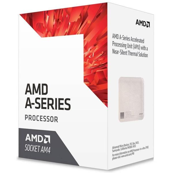 AMD A6-9500E Dual-core (2 Core) 3 GHz Processor - Socket AM4Retail Pack - 1 MB - 64-bit Processing - 3.40 GHz Overclocking Speed - 28 nm - AMD Radeon R5 Graphics Graphics - 35 W - 194°F (90°C)