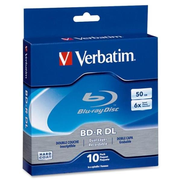 Verbatim BD-R DL 50GB 6X with Branded Surface - 10pk Spindle Box - 50GB - 10pk Spindle Box 97335