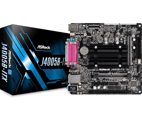 ASRock J4005B-ITX Mini-ITX Motherboard - Intel Gemini Lake Dual-Core J4005 (up to 2.7 GHz) - Supports DDR4 2133/2400 SO-DIMM - 1x PCIe 2.0 x16 - D-Sub - HDMI - Parallel - COM - USB 3.1 Gen1 Type-A - E