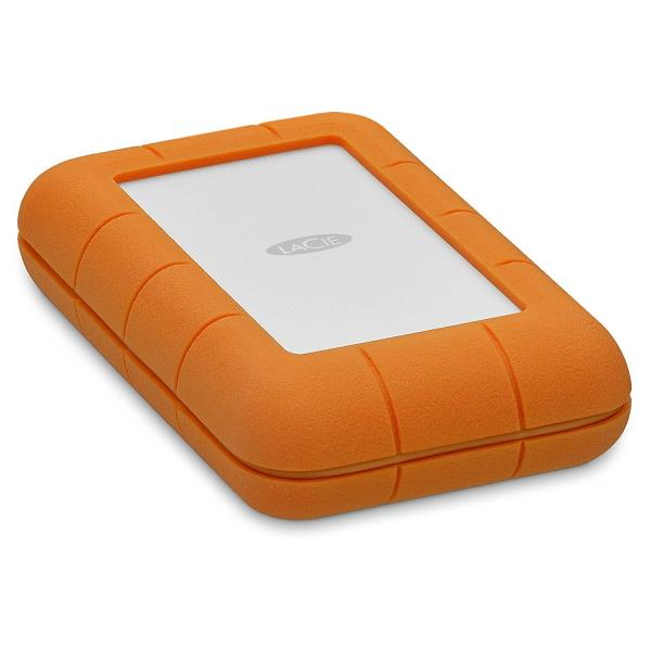 LaCie Rugged 4TB Thunderbolt / USB-C Portable Hard Drive - IP 54 Rated Enclosure - Drop-Resistant Up to 6.5' - Shock, Dust, & Water Resistant - AES-256 Hardware Encryption - Bus-Powered (STFS4000800)