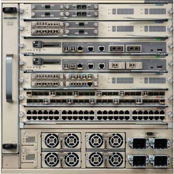 Cisco Catalyst 6807-XL Chassis - 7 Expansion Slot - Manageable - Optical Fiber - Modular - 2 Layer Supported - 10U High - Rack-mountable C6807-XL-S2T-BUN