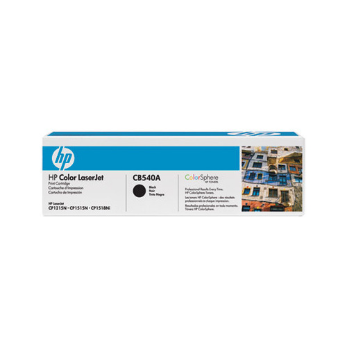 HP CB540A Black Toner Cartridge 2200 Pages for Color Laserjet CP151/1518/CP1215/CM1312MFP Series