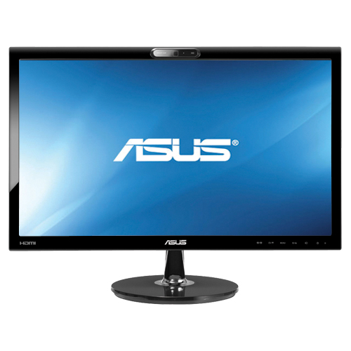 ASUS VK228H-CSM 21.5IN Widescreen LED Backlit LCD Monitor Black 5MS HDMI DVI W/ Built-In Webcam