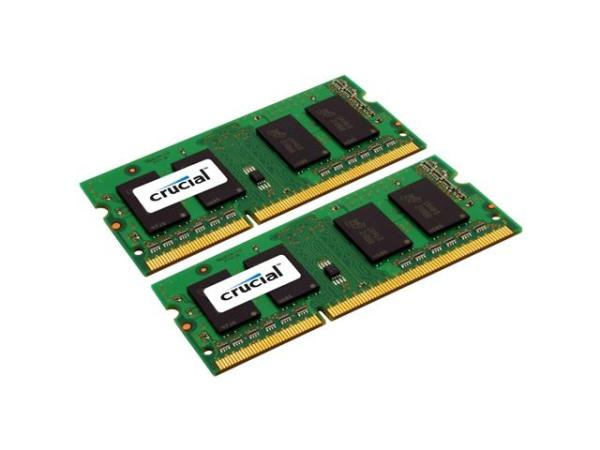 Crucial 8GB Kit (2 x 4GB) DDR3L 1600 MT/s (PC3L-12800) SODIMM 204-Pin 1.35V/1.5V Laptop Memory - CT2KIT51264BF160B