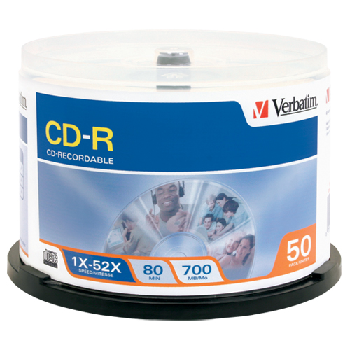 Verbatim 50 x CD-R 700 MB ( 80min ) 52x - spindle - storage media