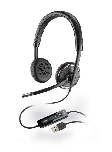 Plantronics Blackwire C520-M Headset - Stereo - USB - Wired - 20 Hz - 20 kHz - Over-the-head - Binaural - Supra-aural - Noise Cancelling Microphone 88861-02