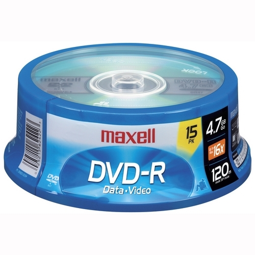 Maxell 16x DVD-R Media - 120mm - Single-layer Layers - 2 Hour Maximum Recording Time 638006
