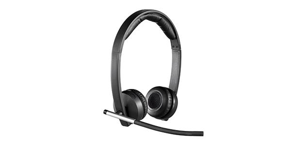 Logitech H820E Wireless Headset Dual Design With Microphone and Charger Dock for Enterprise 981-000516